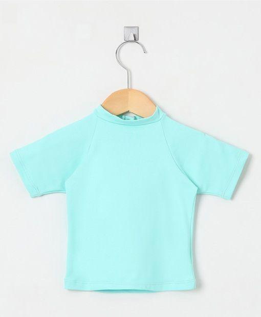Camiseta com proteção solar manga curta Ecotrends - Turquesa