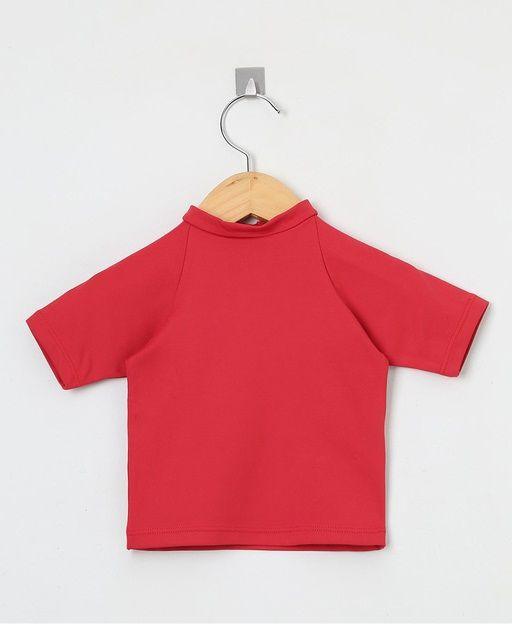 Camiseta com proteção solar manga curta Ecotrends - Vermelha