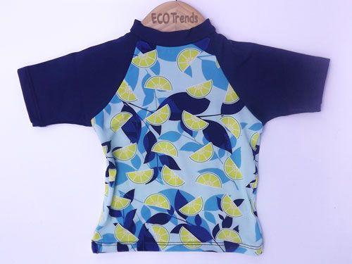 Camiseta com proteção solar manga curta Ecotrends - Limão