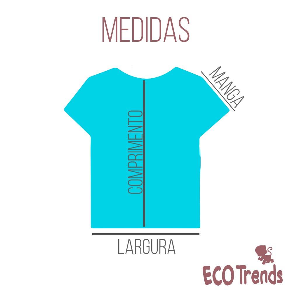 Camiseta com proteção solar manga curta Ecotrends - Pinguim