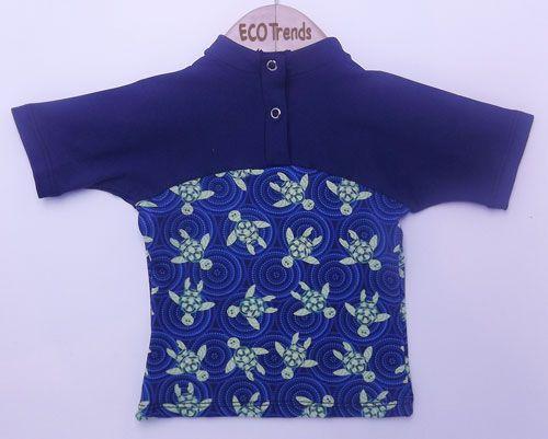 Camiseta com proteção solar manga curta Tartaruga