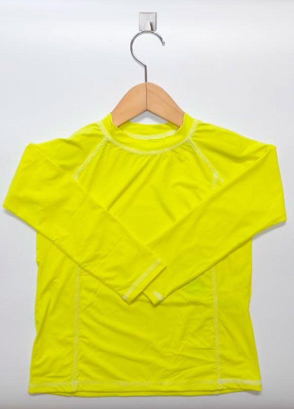 Camiseta com proteção solar manga longa  Ecotrends - Amarelo Fluor