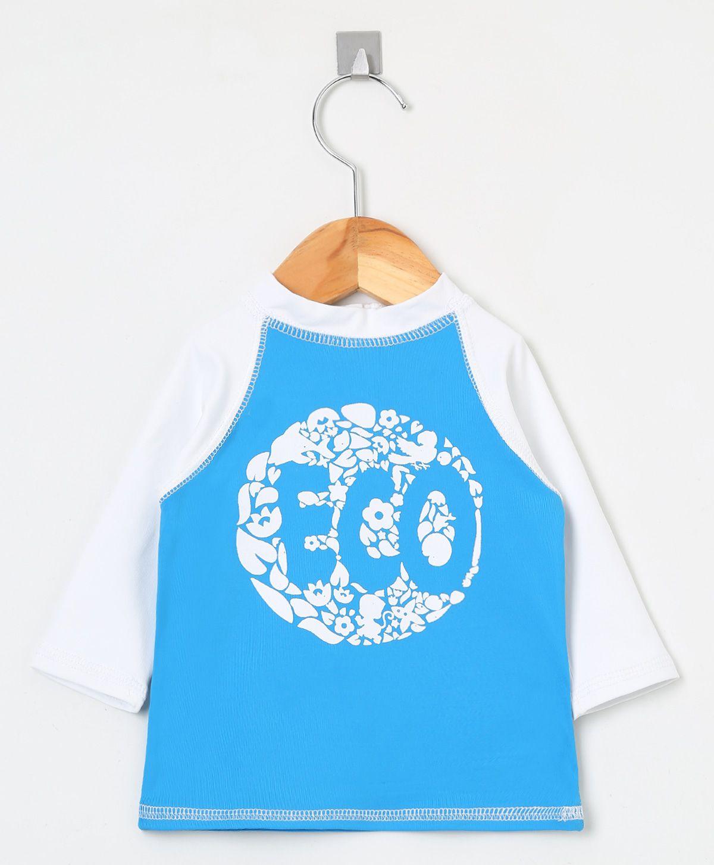 Camiseta com proteção solar manga longa Ecotrends - Azul