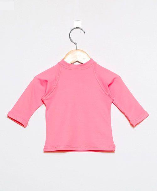 Camiseta com proteção solar manga longa Ecotrends - Rosa novo