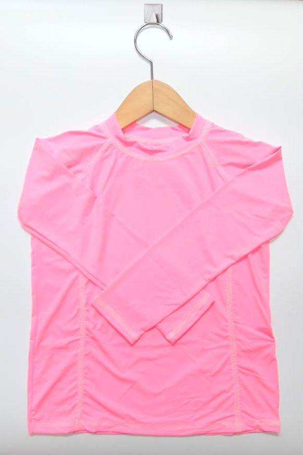 Camiseta com proteção solar manga longa  Ecotrends - Rosa Fluor