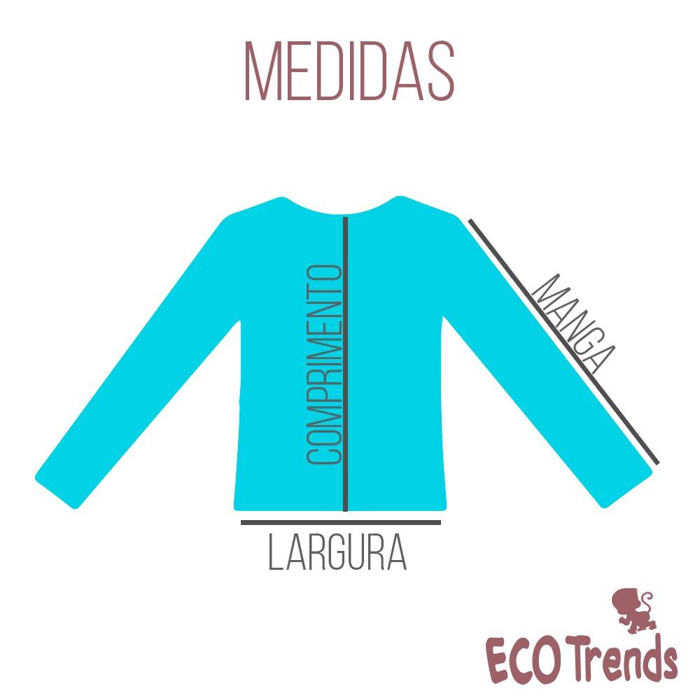 Camiseta com proteção solar manga longa Turquesa  - Ecotrends
