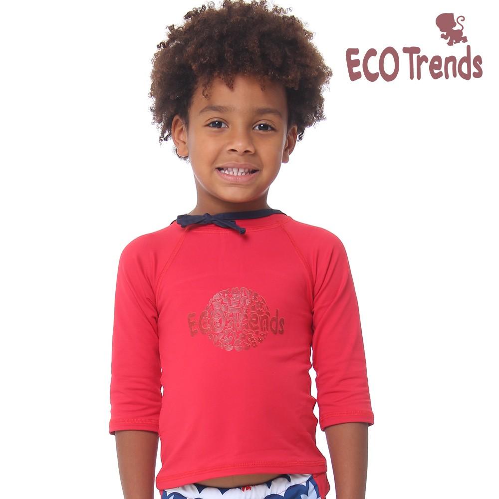 Camiseta Infantil Com Proteção Solar Manga Longa Ecotrends