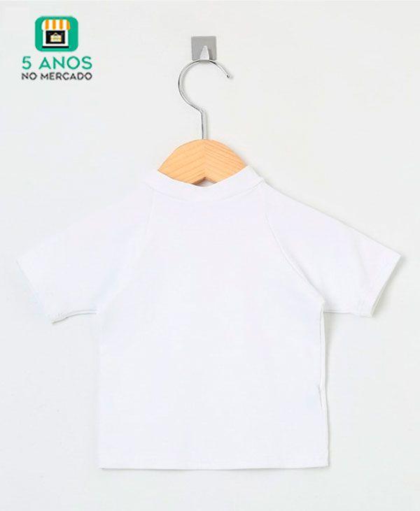 Camiseta com proteção solar UV manga curta Ecotrends - Branca