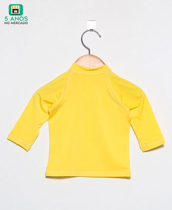 Camiseta com proteção solar UV manga longa Ecotrends - Amarela