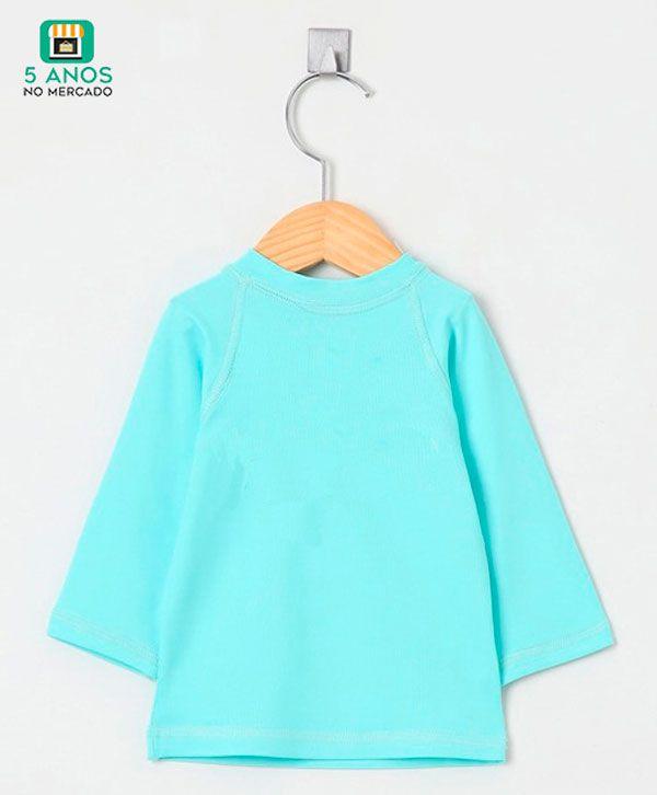 Camiseta com proteção solar UV manga longa Ecotrends - Turquesa