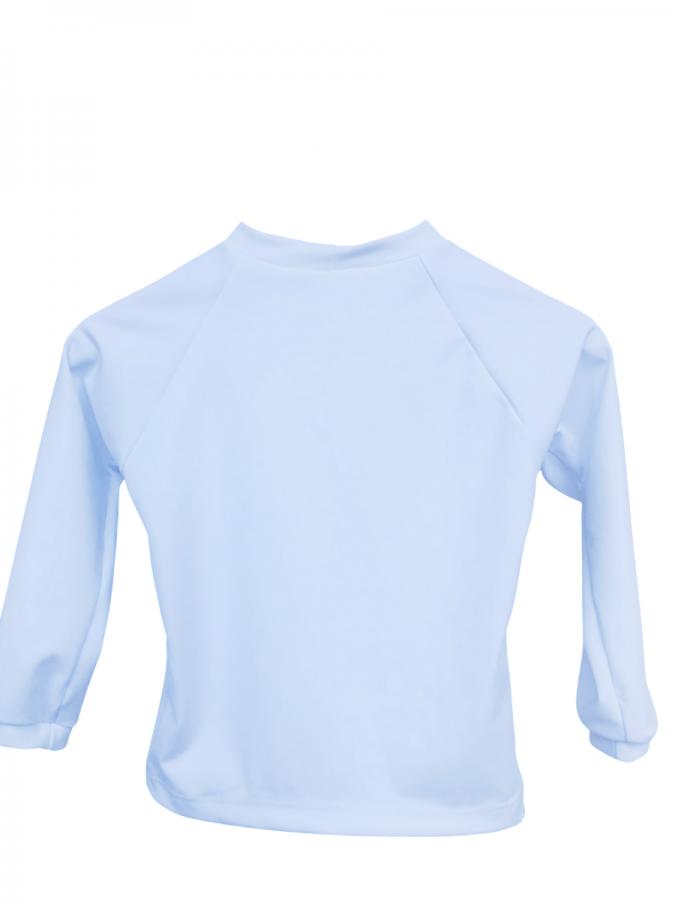 Camiseta Infantil Com Proteção Solar Manga Longa Branca Ecotrends