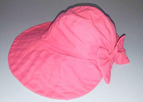 Chapéu com proteção solar Ecotrends Laço - Rosa