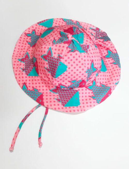 Chapéu com proteção solar Ecotrends - Peixe Rosa