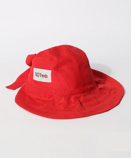Chapéu com proteção solar Laço Ecotrends - Vermelho