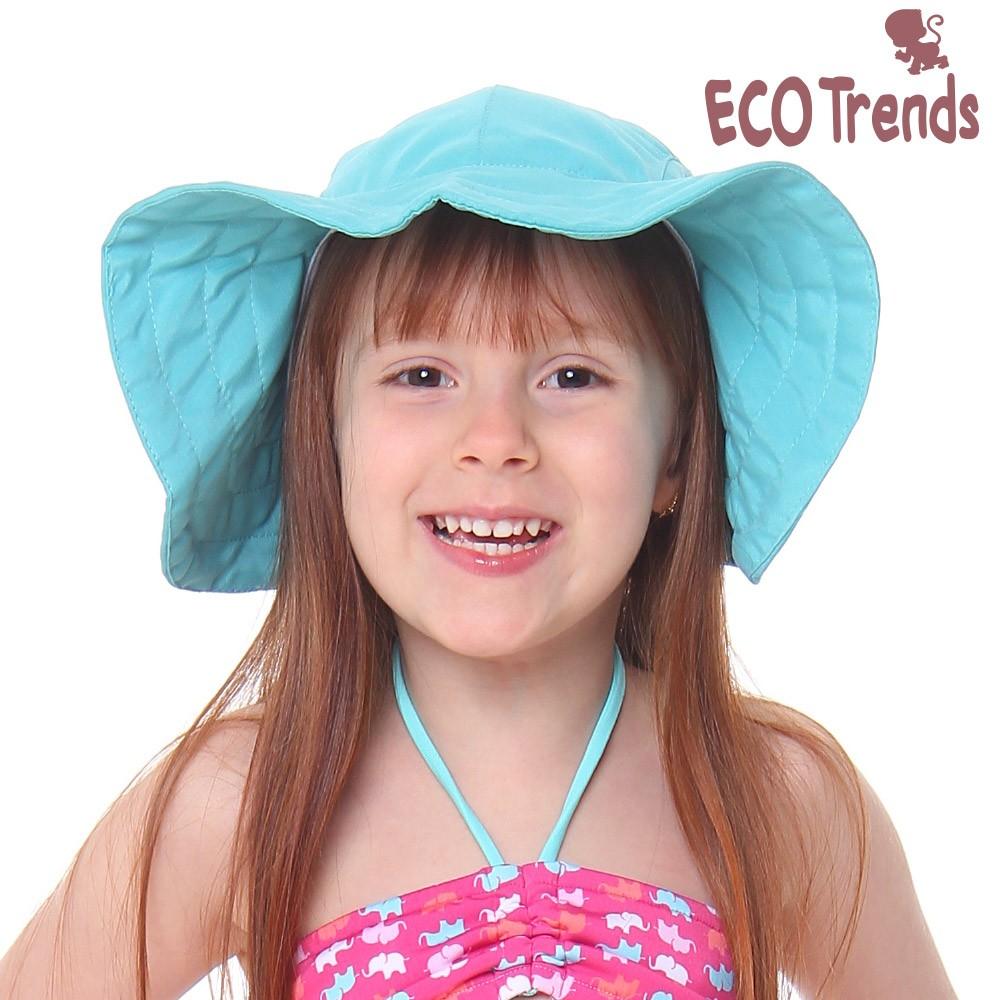Chapéu com proteção solar Laço Ecotrends - Turquesa
