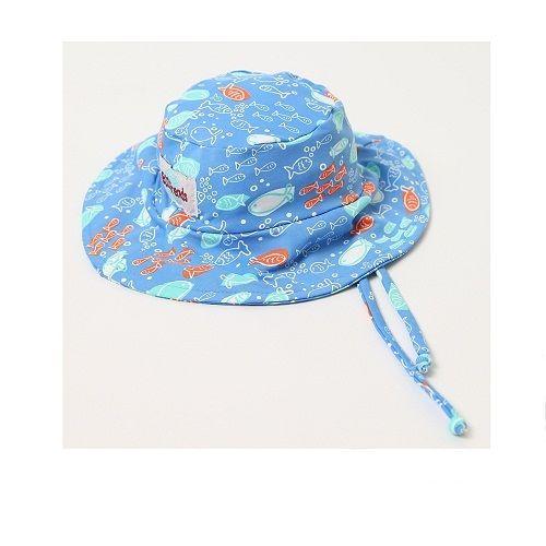 Chapéu com proteção solar Ecotrends - peixe azul