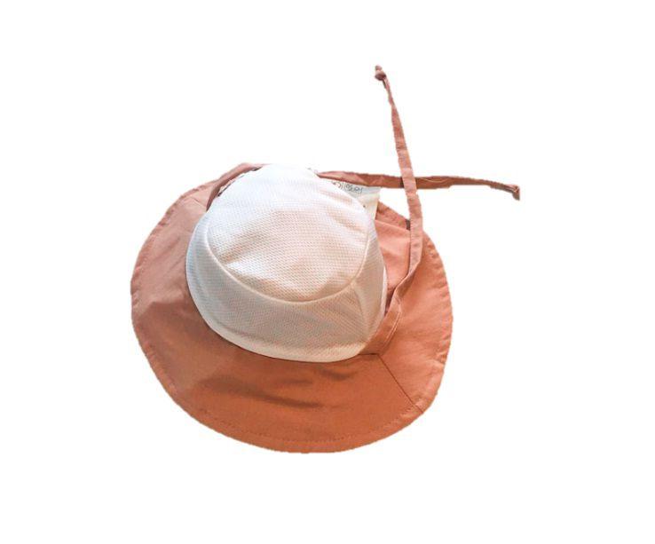 Chapéu com proteção solar UV Ecotrends - Branco e Nude