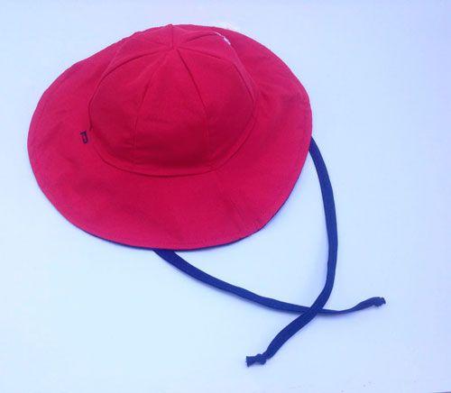 Chapéu dupla-face com proteção solar Ecotrends - Azul e Vermelho