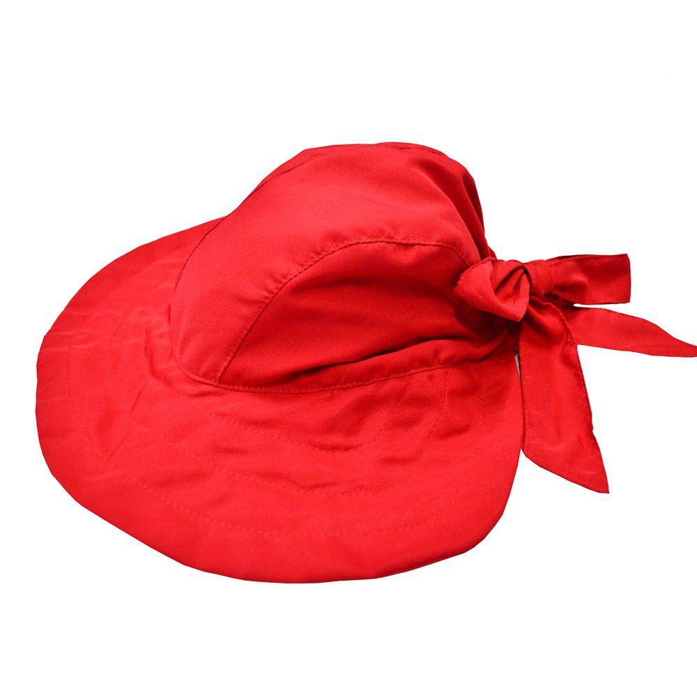 Chapéu Infantil  proteção solar Vermelho FPS50+