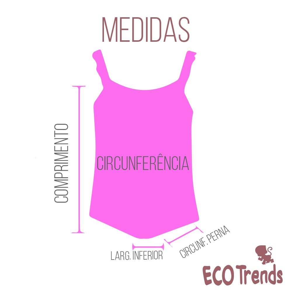 Maiô com fralda embutida Ecotrends - Flor