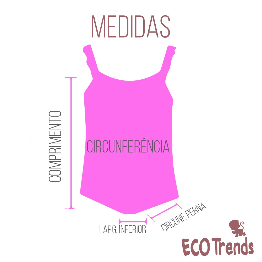Fralda de piscina Maiô Flor   - Ecotrends