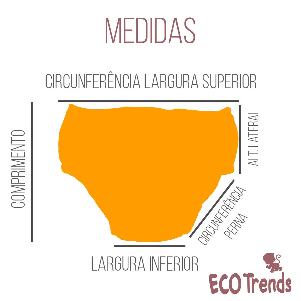 Fralda de piscina sunga Ecotrends - Abacaxi