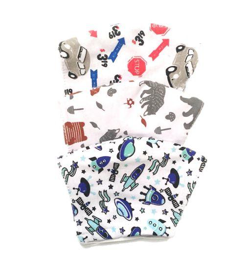 Kit 3 máscaras infantis dupla face 100% algodão