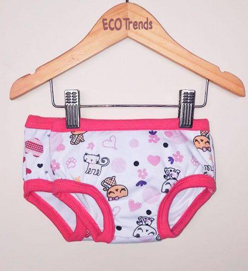 Kit com 2 calcinhas de transição/desfralde Ecotrends - Coração Rosa c/ elástico