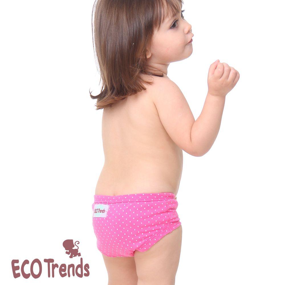 Kit bebê com 2 calcinhas de desfralde/treinamento Ecotrends  - poá verde