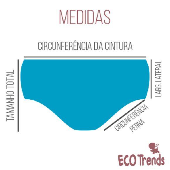 Kit com 2 calcinhas de transição/desfralde Ecotrends - Unicórnio