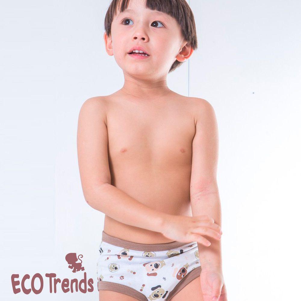 Kit bebê com 2 cuecas de desfralde/transição Ecotrends  - Cachorro