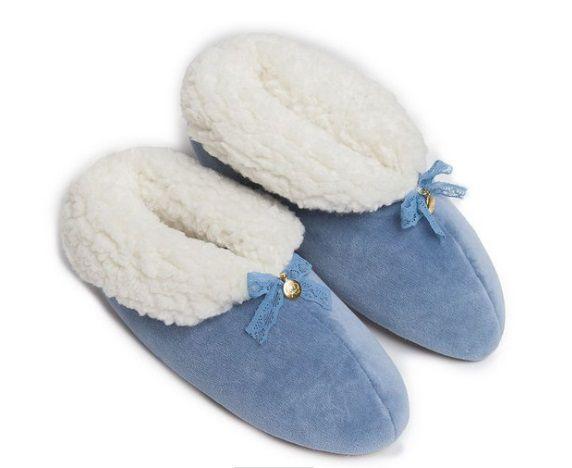 Pantufa Bota de Plush Azul