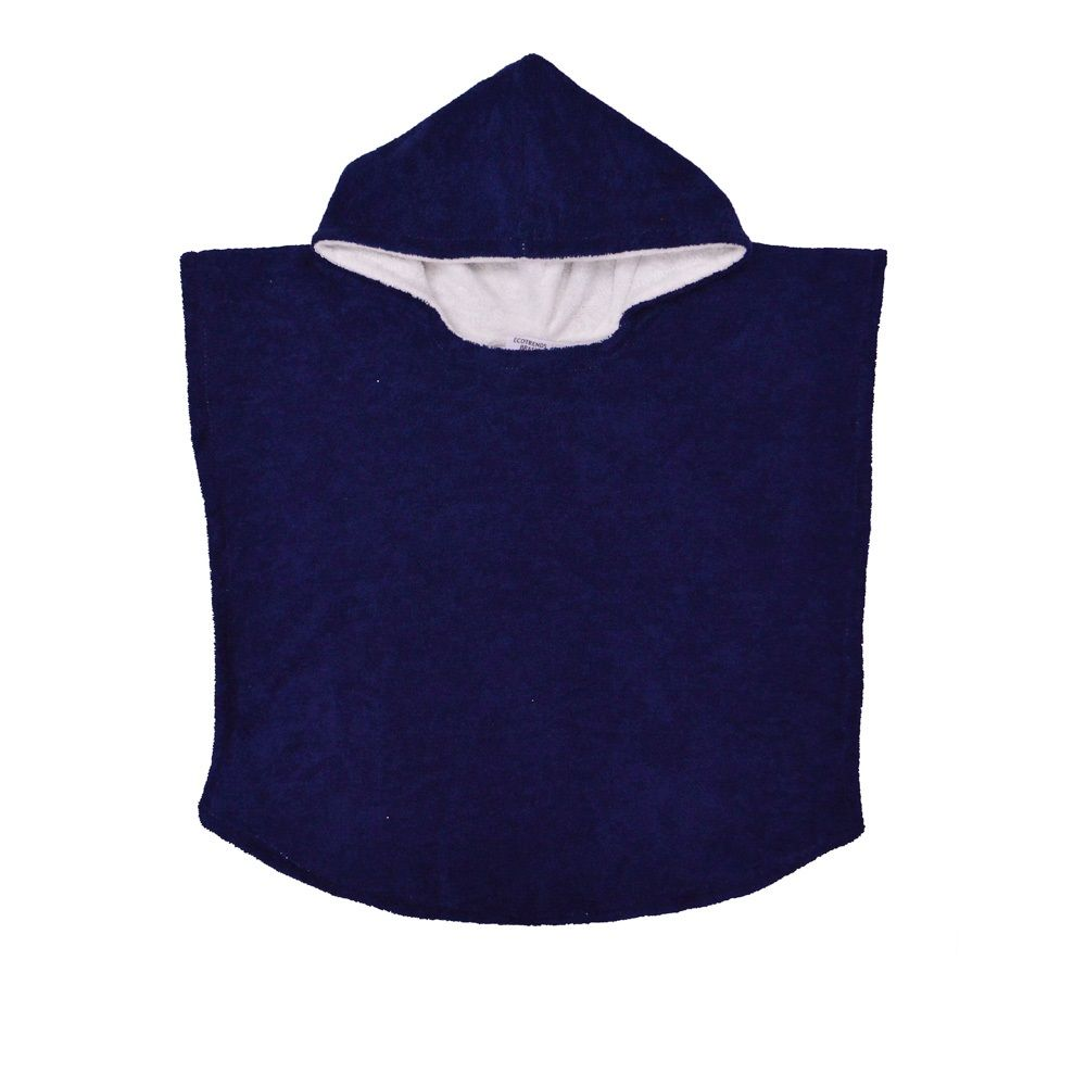 Poncho atoalhado dupla face Azul Marinho