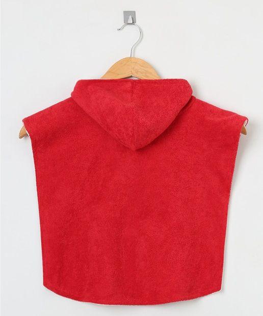 Poncho atoalhado dupla face Ecotrends - Vermelho