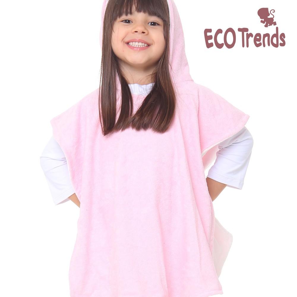 Poncho atoalhado dupla face Ecotrends - Rosé