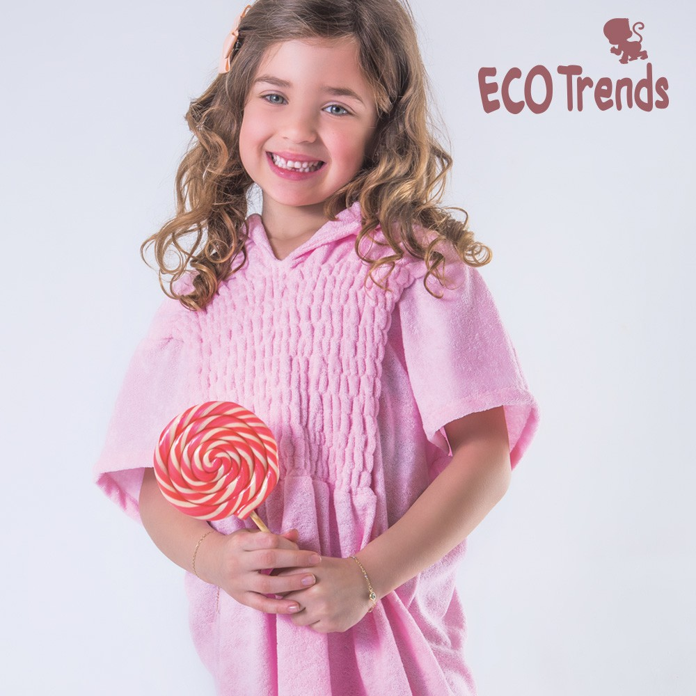 Saída de praia atoalhado Rosé  - Ecotrends