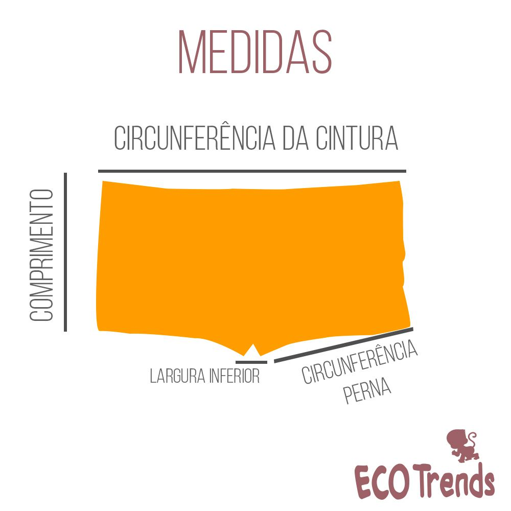 Sunga boxer infantil  Ecotrends - Caranguejo