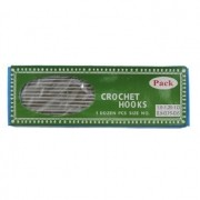 Kit com 12 Agulhas de Crochê em Alumínio Tamanho nº2 ao 12 (