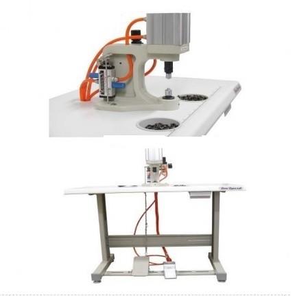 Máquina de Botão Pneumática - Botão de Pressão Ilhós