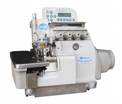 Máquina de Costura Overlock Eletrônica Ponto Cadeia Sansei SA-747S