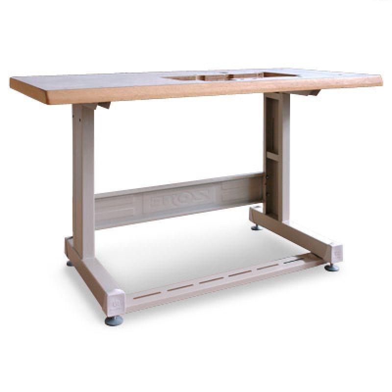 Mesa com pé para Máquina de Costura Elastiqueira Industrial.