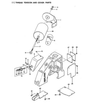 Suporte Eixo do Looper para Máquina de Sacaria GK26-1A
