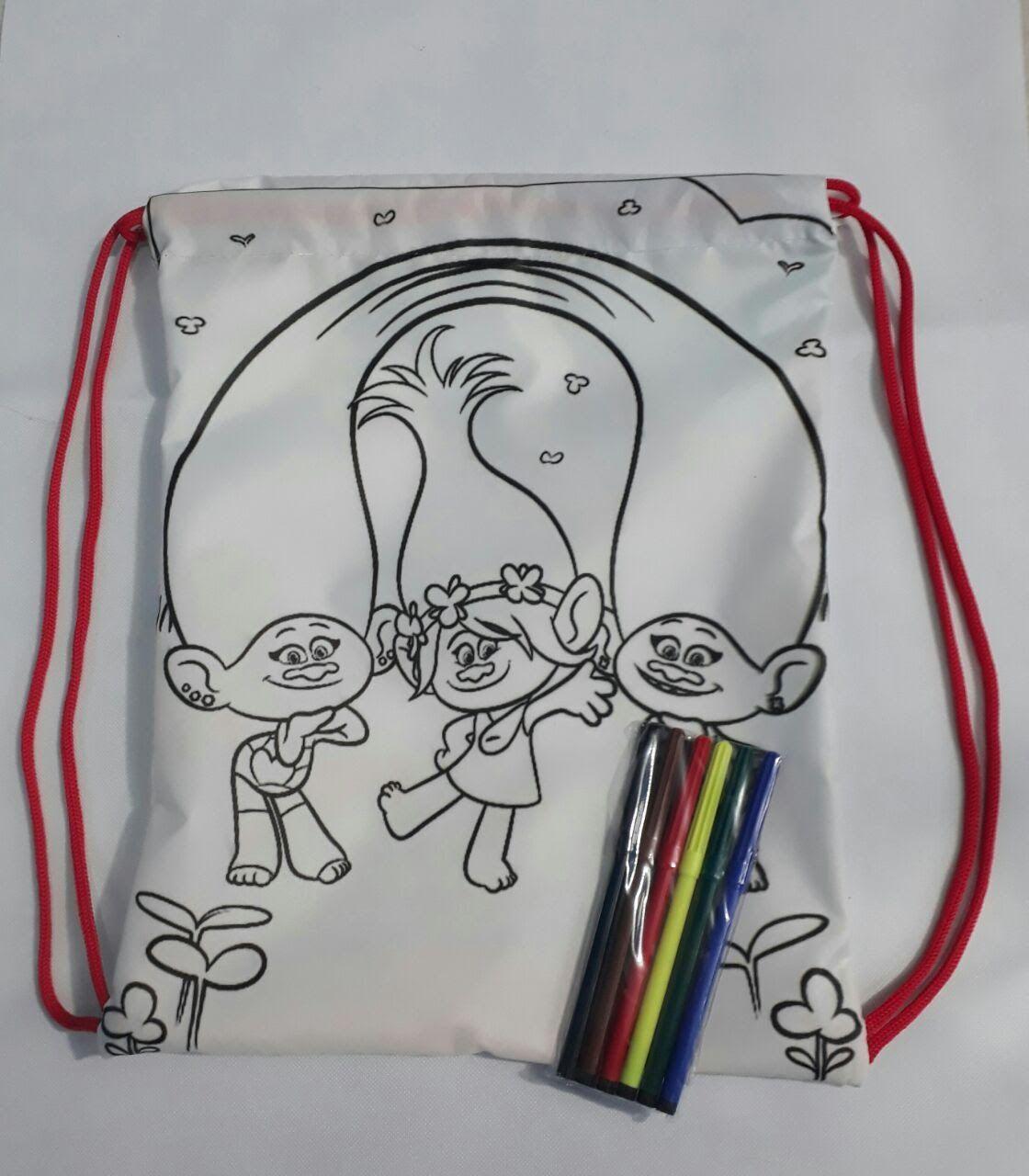 Kit de 20 Mochilas modelo Comics para Lembrancinha