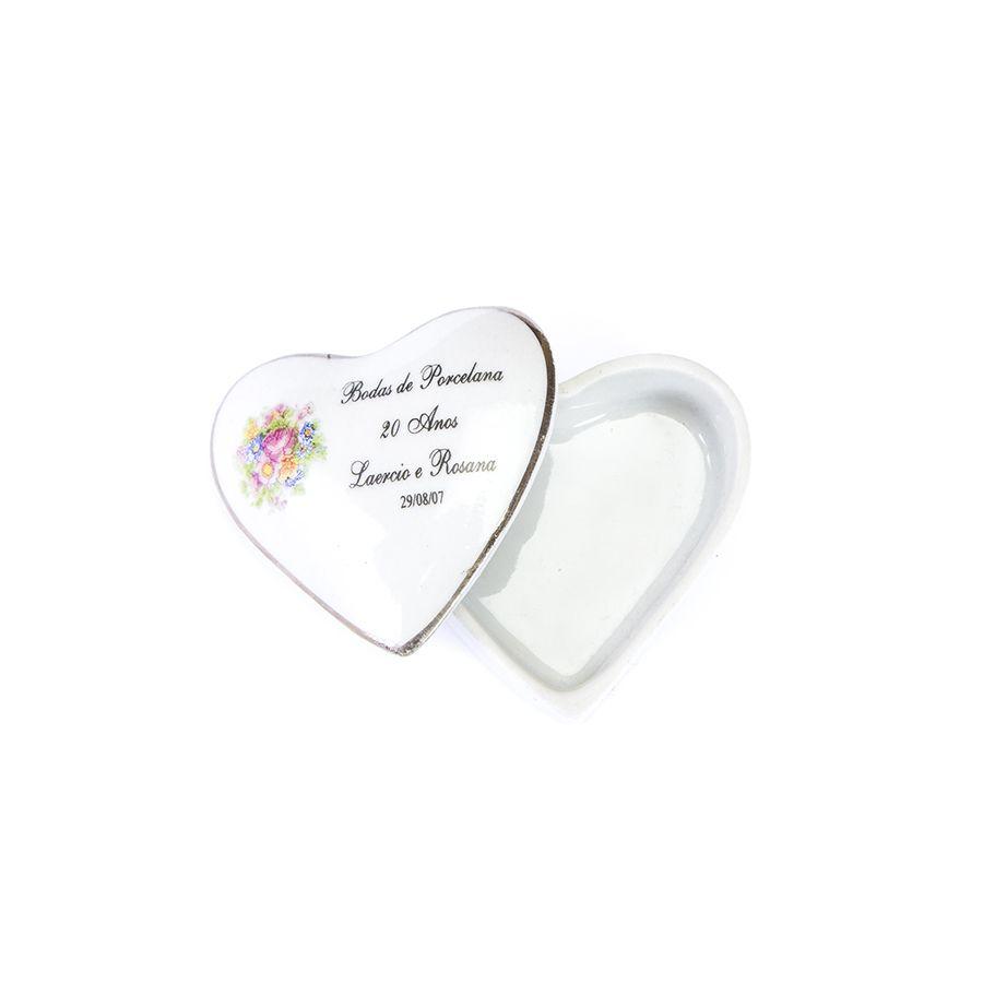 Porta jóia Personalizado Coração liso