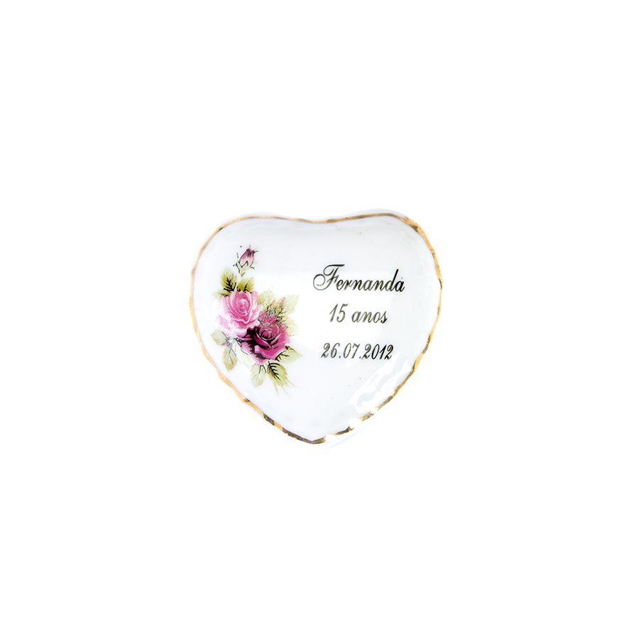 Porta jóia Personalizado Coração trabalhado