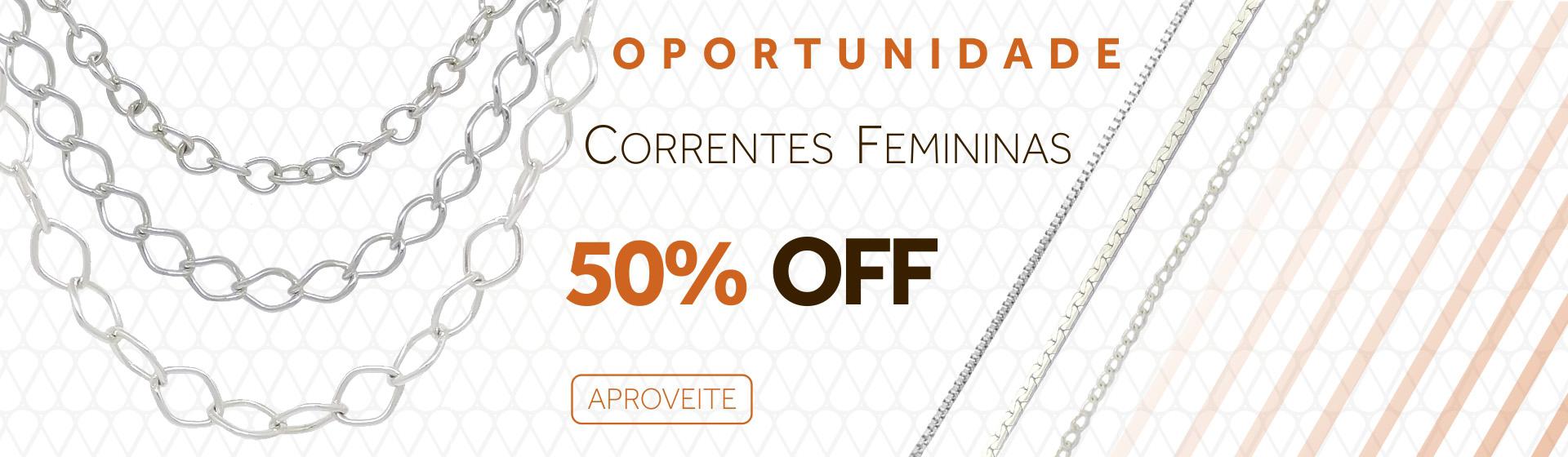 Correntes Femininas Promoção