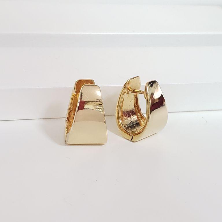 Brinco Argola 2cm Gordinha Lisa Banho de Ouro 18k Semijoia