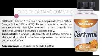 Oleo De Cartamo + Vitamina E 60 Softgel