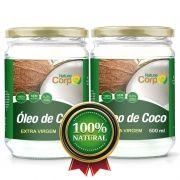 2 Óleo De Côco Extra Virgem Nature Corp 500 ml - Prensado a Frio