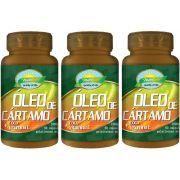 Kit 3 Óleo de Cartamo + Óleo de Coco + VItamina E - 1000mg 60 Cápsulas softgel